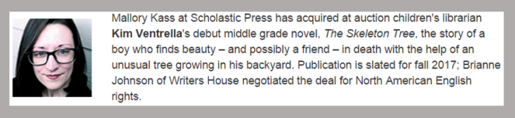 Publishers Weekly Announcement