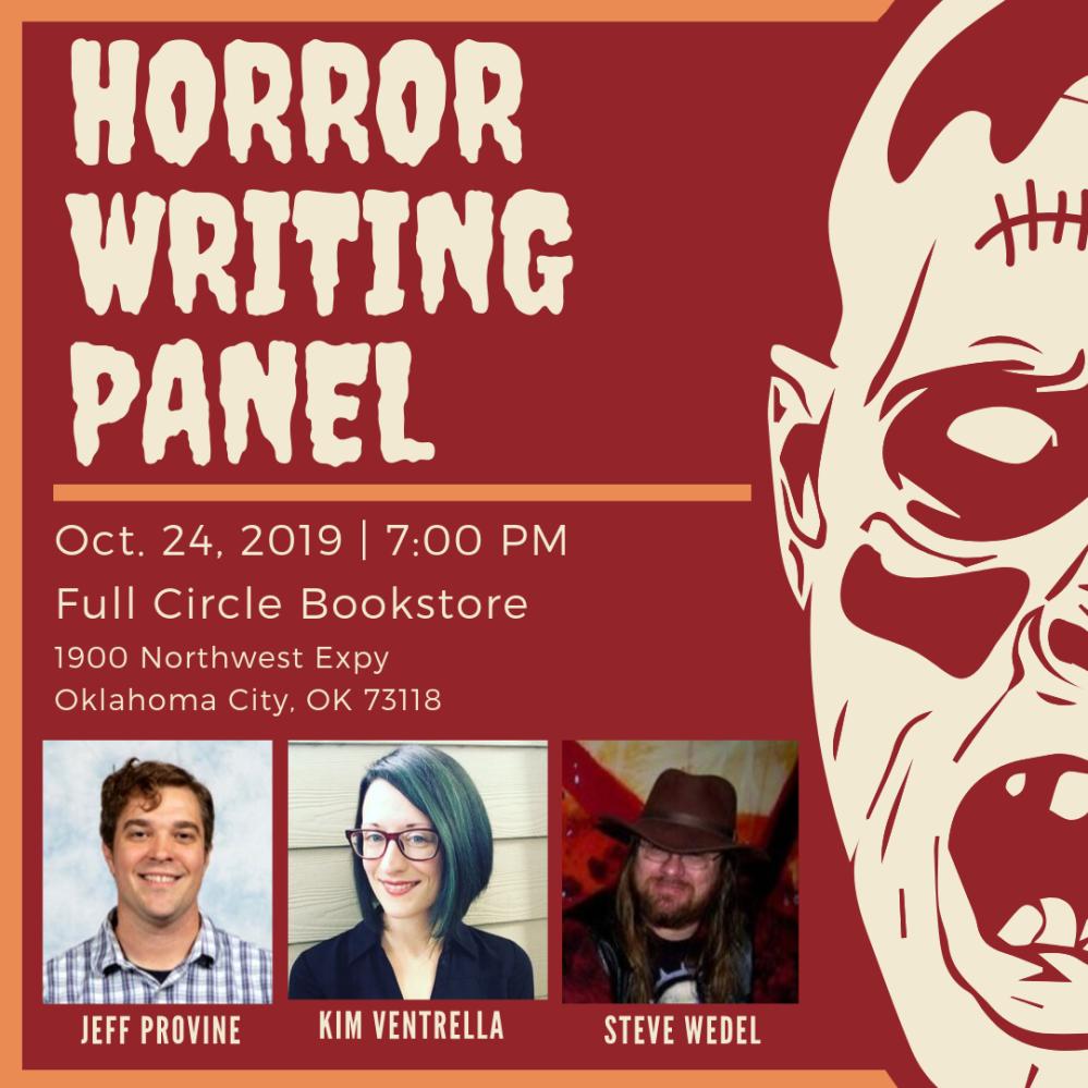 horror writing panel